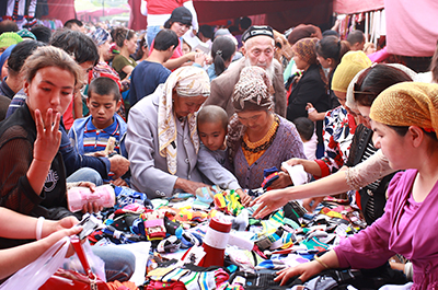 Aksu bazaar