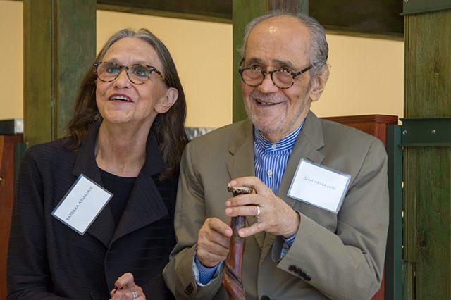 Barbara Armajani and Siah Armajani