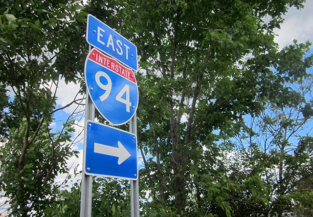 East I-94 sign