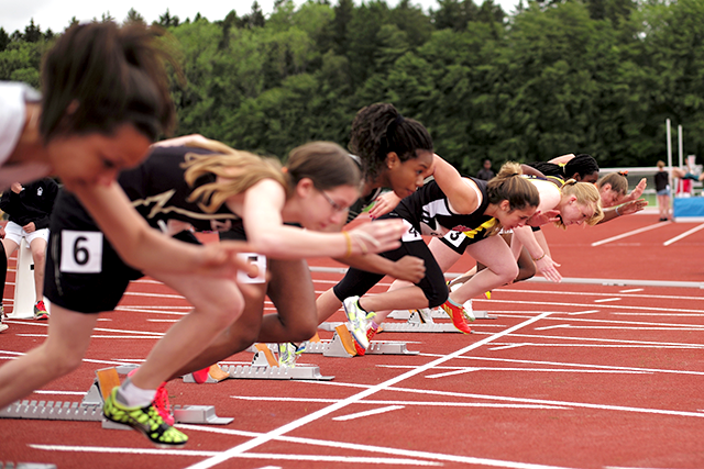 For high school girls, the most popular sports are track and field