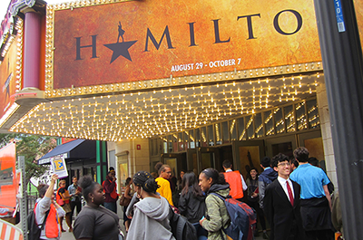 students attending Hamilton