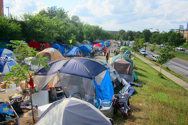 Hiawatha Avenue homeless encampment