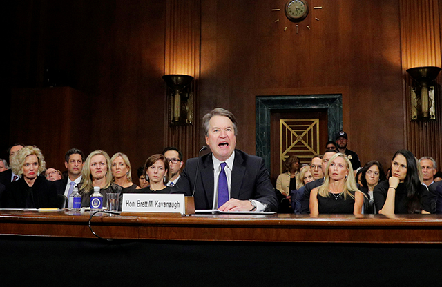 Supreme Court nominee Brett Kavanaugh testifying before the Senate Judiciary Committee on Thursday.