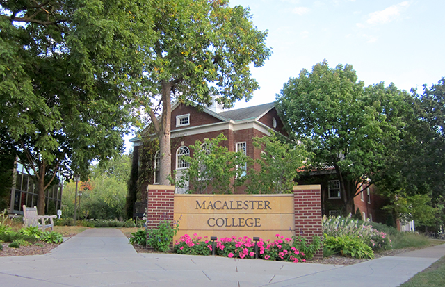 photo of macalester college building