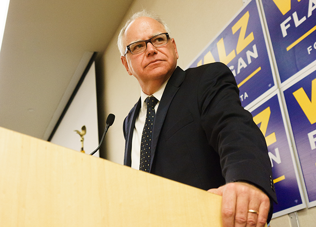 Gubernatorial candidate Tim Walz