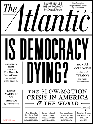 image of cover of atlantic magazine issue about democracy