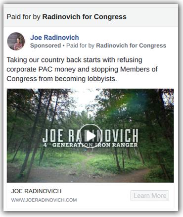 Joe Radinovich ad