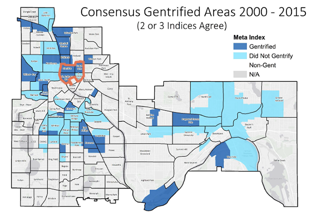 map of gentrified neighborhoods