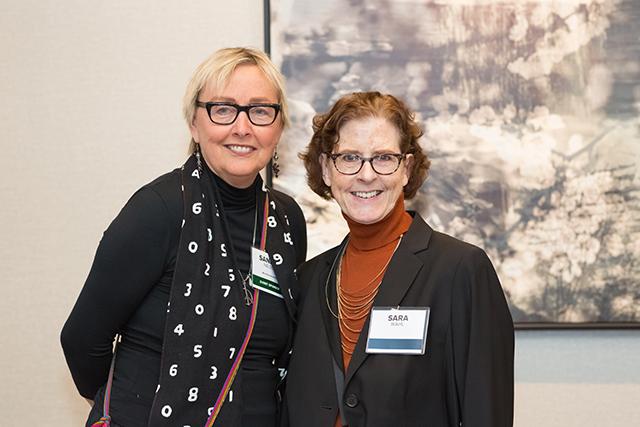 Event sponsor Sandra Nelson and Sara Wahl