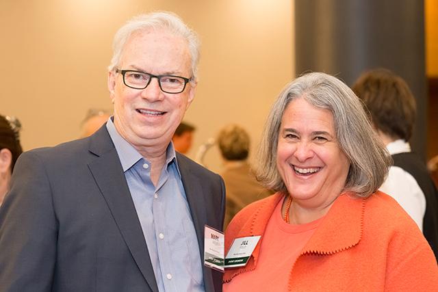 Event sponsor and MinnPost board member Mark Abeln and MinnPost Board Chair Jill Field