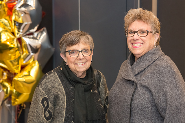 Event sponsors Fran and Barb Davis