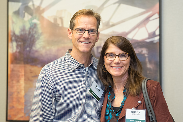 Event sponsors Todd and Susan Bordson