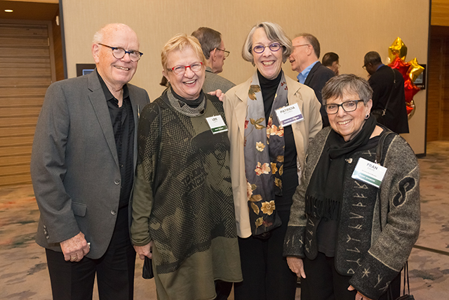 Event sponsors Joe and Lois Duffy, Patricia Mitchell, and event sponsor/board member Fran Davis