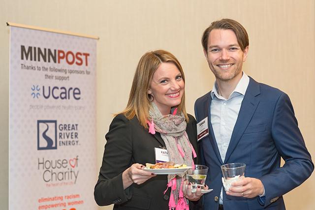 Katie Kramer and MinnPost development director Tanner Curl