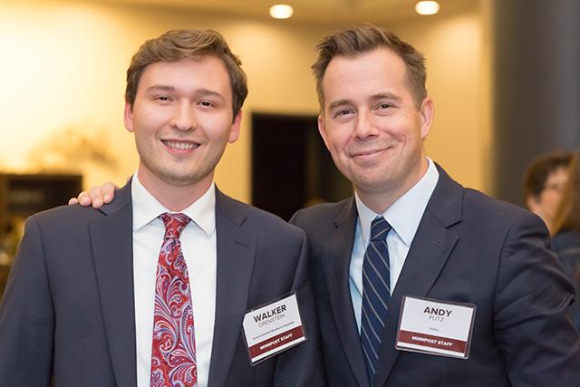 MinnPost reporter Walker Orenstein and editor Andy Putz