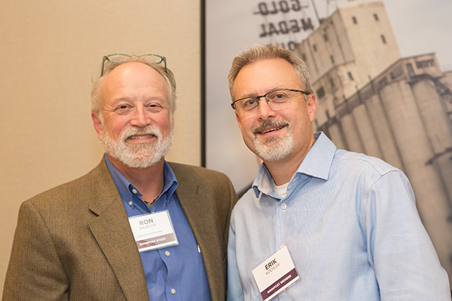 MinnPost environmental columnist Ron Meador and Erik Koehler