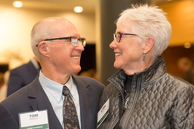Event sponsors Tom and Lynn Rusch