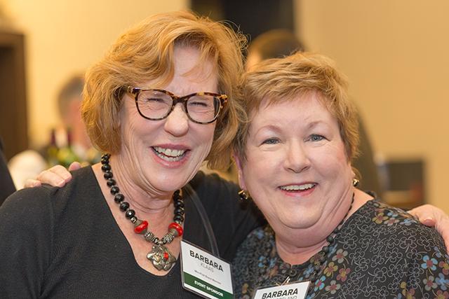 Event sponsors Barbara Klaas and Barbara Westmoreland