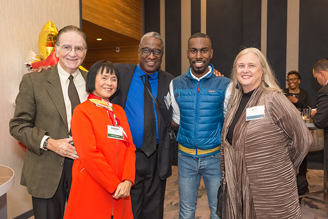 Event sponsors Joseph and KaiMay Terry, Herman Milligan, DeRay Mckesson and Edie French