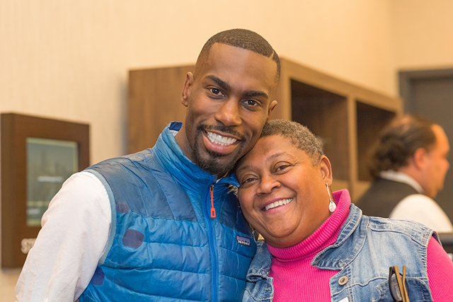 DeRay Mckesson and former Minneapolis Public Schools superindentant Bernadeia Johnson