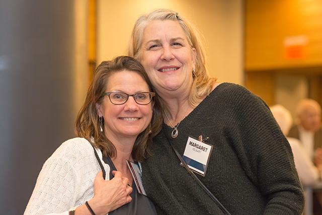 MinnPost director of advertising Sally Waterman and Margaret Kelaart