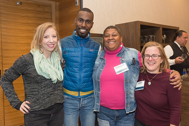 Kyrra Rankine, DeRay Mckesson, Bernadeia Johnson and Anne Mahle