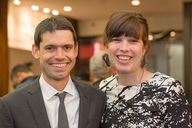 MinnPost news editor Tom Nehil and Martha Garcés