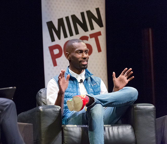 DeRay Mckesson on the Cowles stage