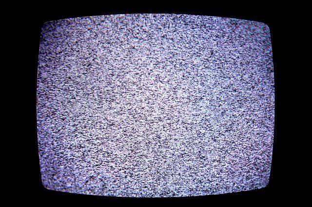 photo of telvision screen displaying static