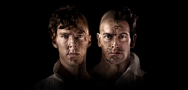 "Benedict Cumberbatch and Jonny Lee Miller in National Theatre Live's ""Frankenstein."""