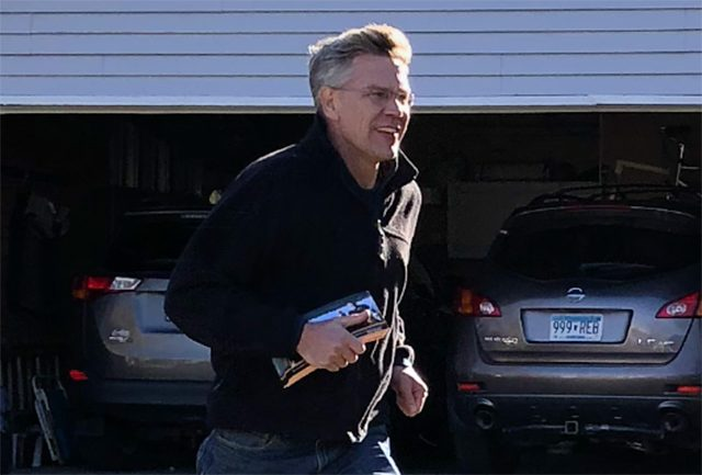 Rep. Erik Paulsen door-knocking on a recent Saturday afternoon.