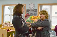DHS Commissioner Emily Piper and Cedar Mountain Elementary Principal Patti Machart
