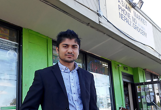 Siva Humagai, co-owner of Asian Market and Nepali Grocery on Rice Street in St. Paul.