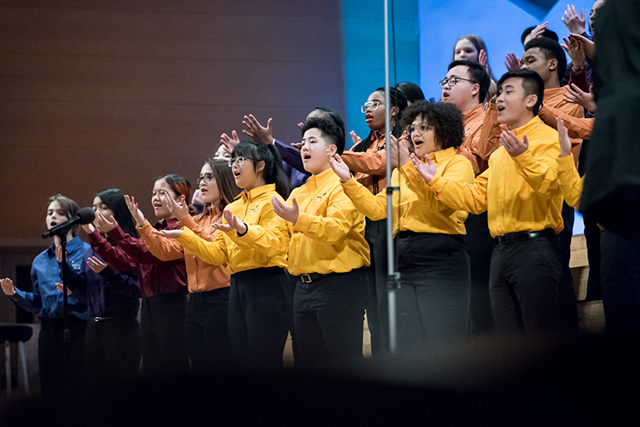 Singers of This Age includes students from all over the Twin Cities.