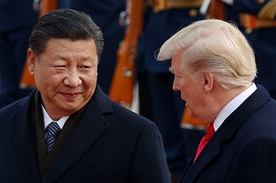 China's President Xi Jinping and President Donald Trump