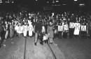 historical photo of halloween parade