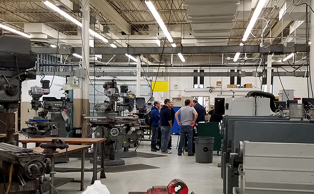 Anoka Technical College's Machine Trades lab