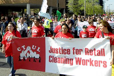 CTUL marchers
