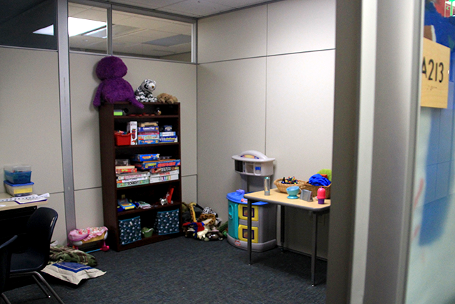 A play therapy office at ISD 287's North Education Center.