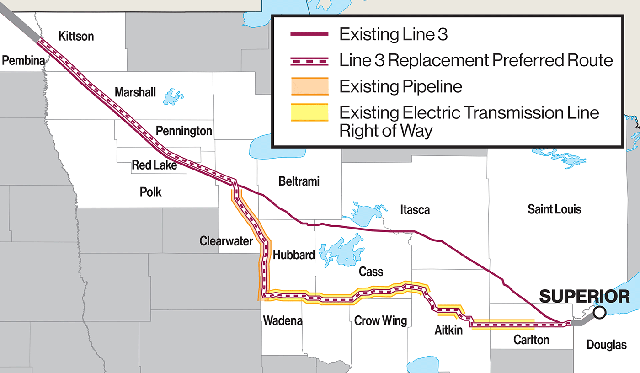 Where the Enbridge Line 3 pipeline project stands, and where it goes