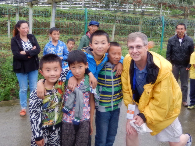 Bob Guthrie in China for an annual kiwifruit conference.