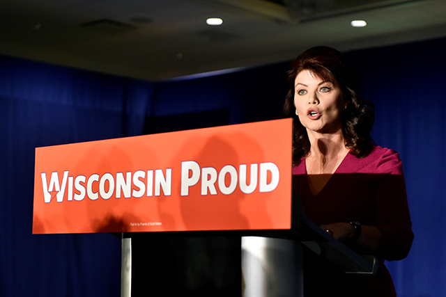 Wisconsin Lt. Governor Rebecca Kleefisch announcing on Wednesday morning that Gov. Scott Walker's campaign is going to seek a recount.