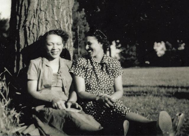 Chris Scott's grandmother Flora and cousin Orean in Rondo, circa 1940.