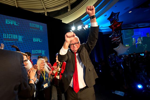 Tim Walz election night