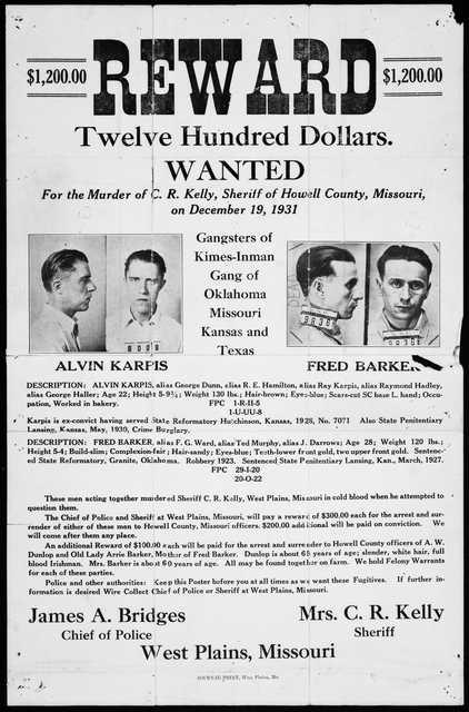 image of historic reward poster