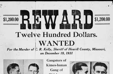 image of historic reward poster