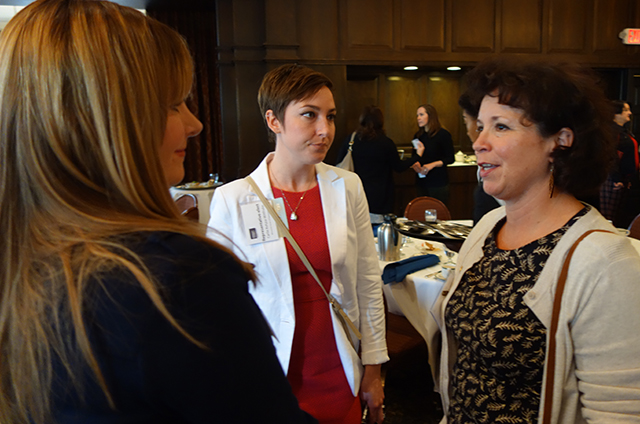 photo of rep.-elect Carlie Kotyza-Witthuhn speaking with luncheon attendees