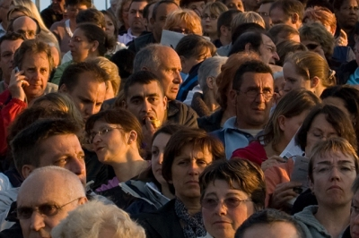 photo of crowd of faces