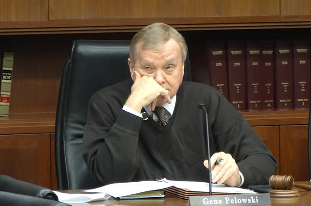 photo of rep gene pelowski at legislative hearing