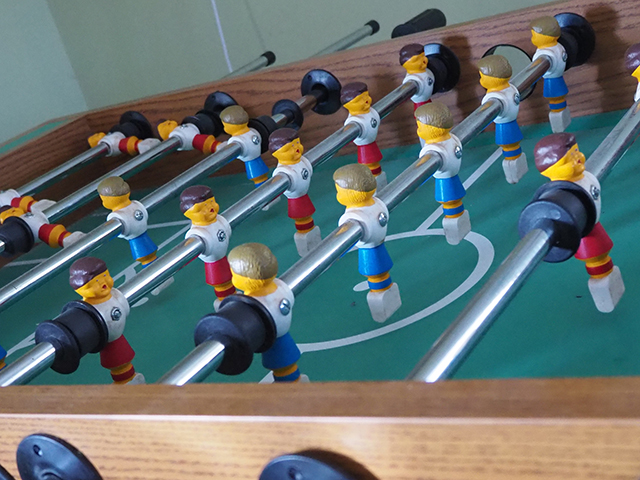 photo of foosball table